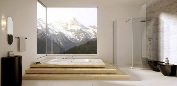 great-bathroom-design-with-black-sink-and-beautiful-mountain-view-615x300