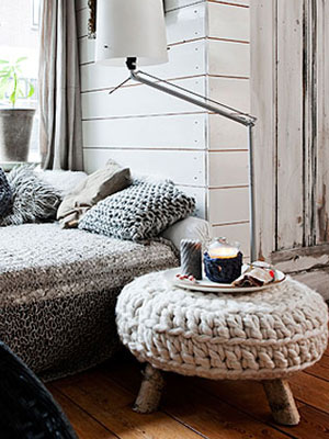 knitted interior accessories