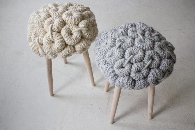 knitted stool 6