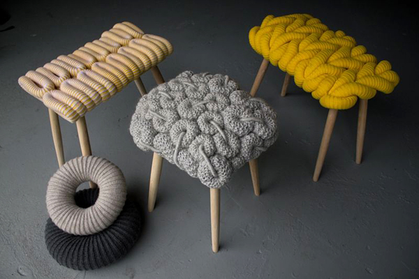 knitted stools 7