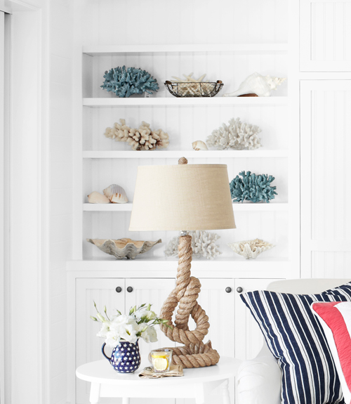 knotted-rope lamp from Pottery Barn