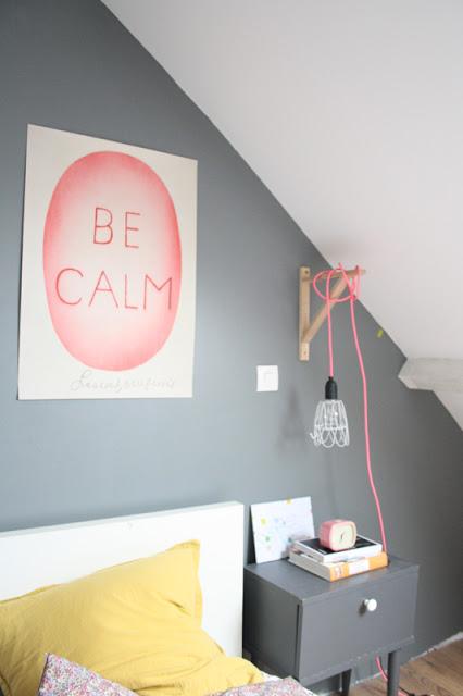 pink rope lamp