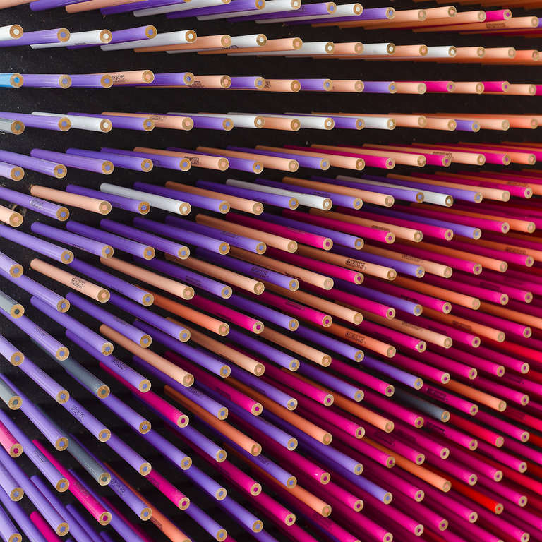 wall of pencils
