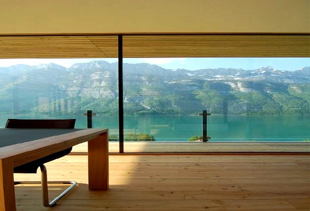 wood-house-living-room-with-lake-view