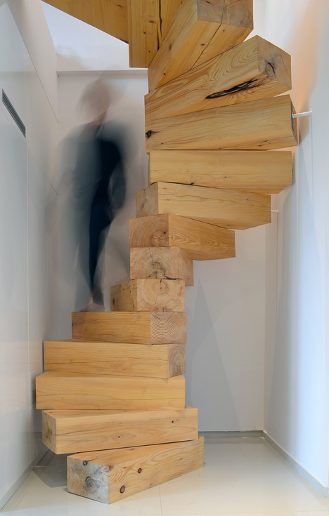 wooden staircase poland 1