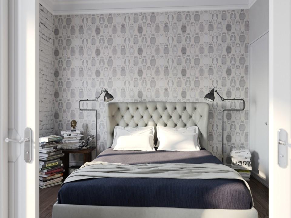 black white cozy apartment 5