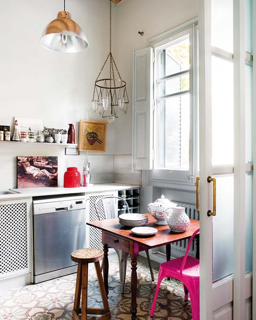 vintage:eclectic kitchen