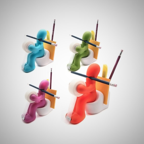 Butt Office Supply Station Desk Accessory Holder