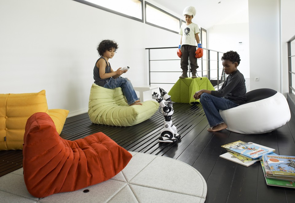 Mini Togo Chairs From Ligne Roset,playful Kids Furniture Design, Simple  Form, Soft And Pleasant Upholstery Fabric And Attractive Colors.