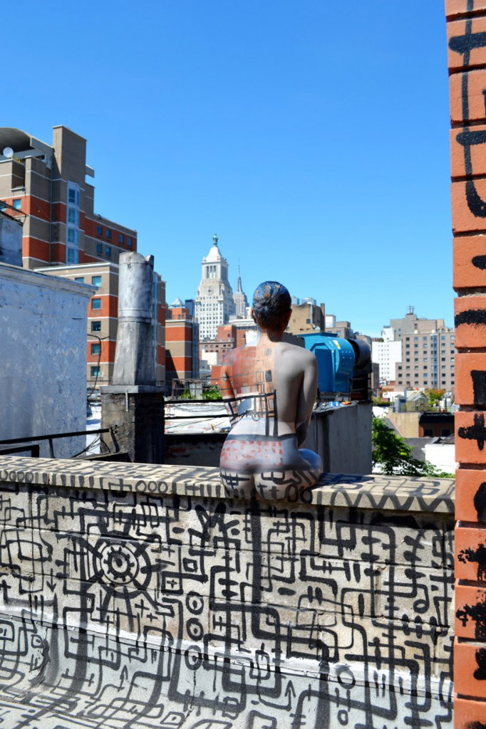 Body Painting Blending With Nyc Landscape