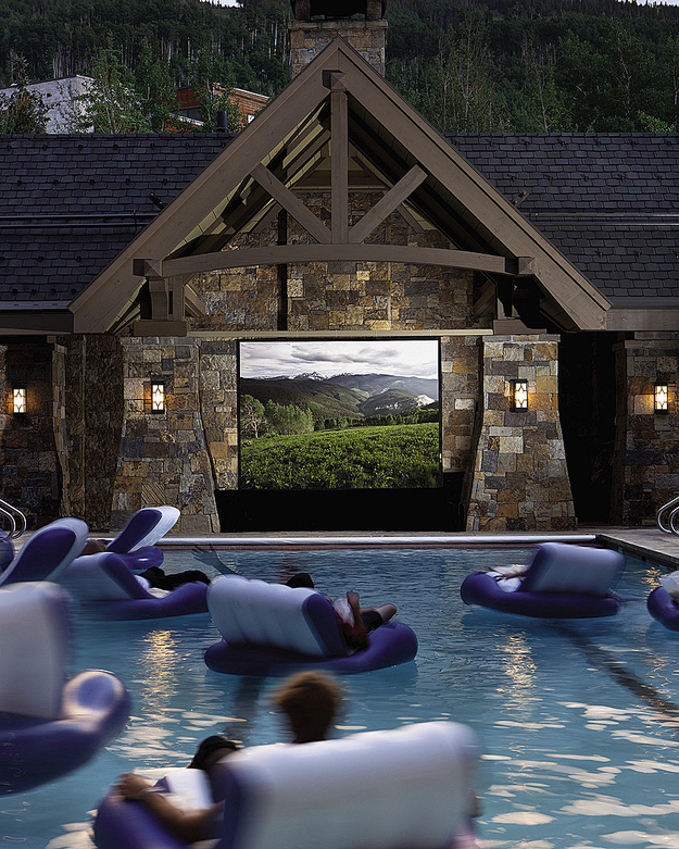 swimming pool movie theather