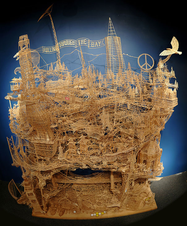 toothpicks sculpture 1