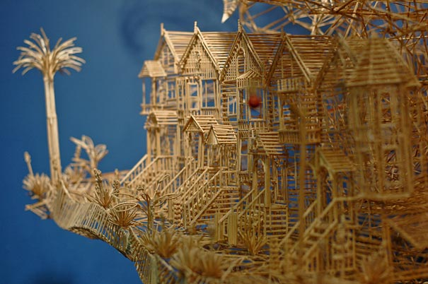 toothpicks sculpture 10