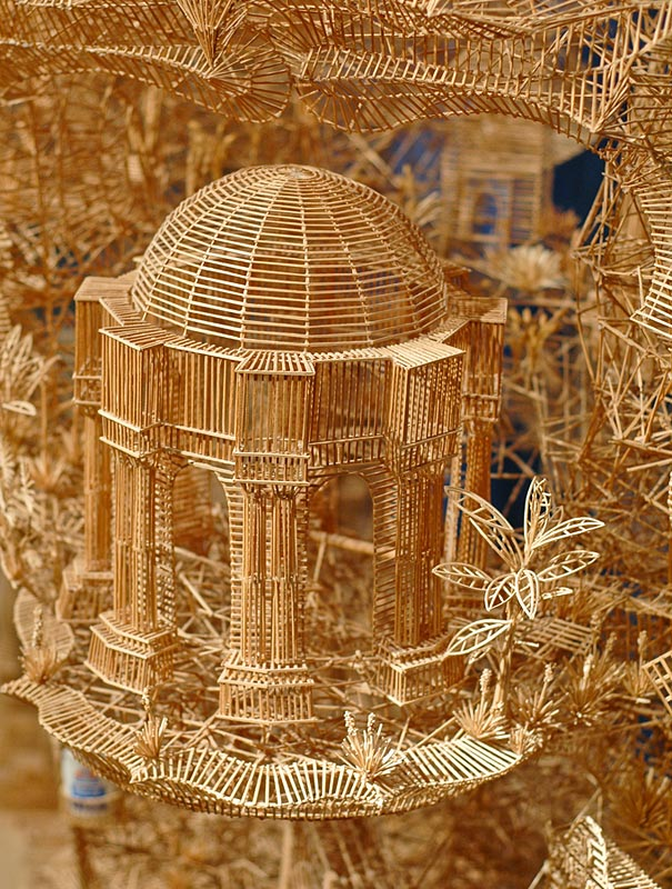 toothpicks sculpture 3