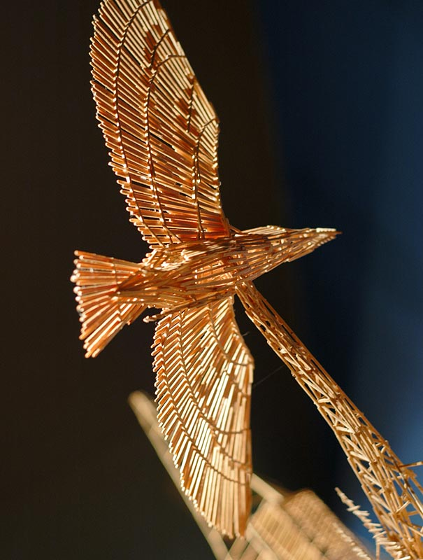 toothpicks sculpture 4