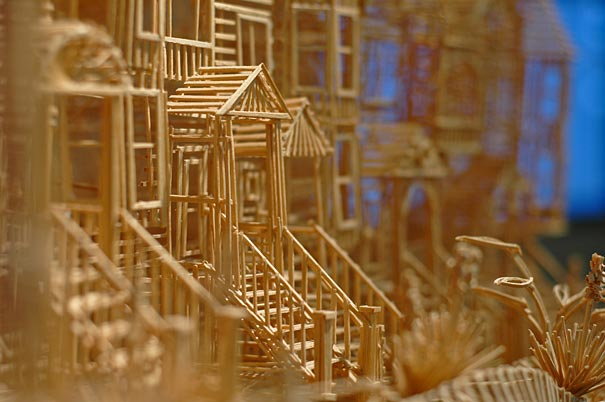 toothpicks sculpture 5