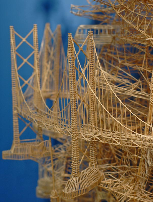 toothpicks sculpture 7