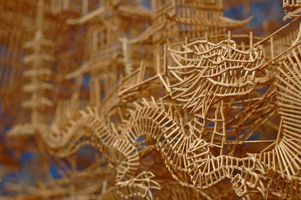 toothpicks sculpture 9