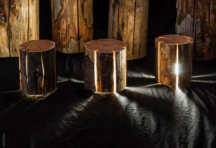 log lamp 3