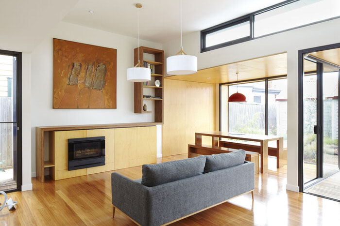 plywood living room