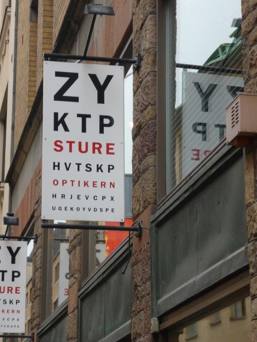 Optometrist Signage In Stockholm