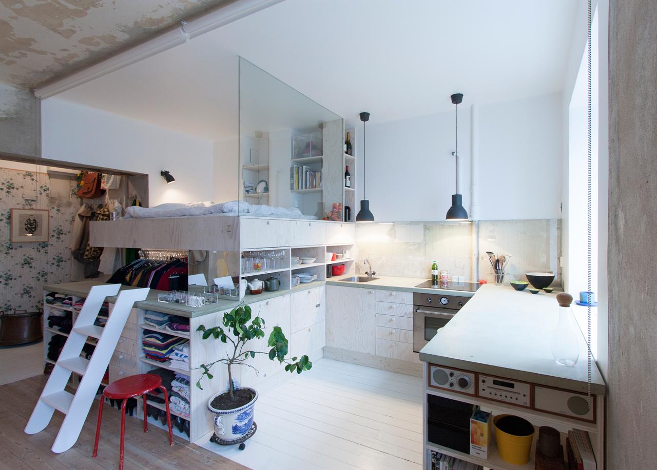 Idea for tiny apartment design