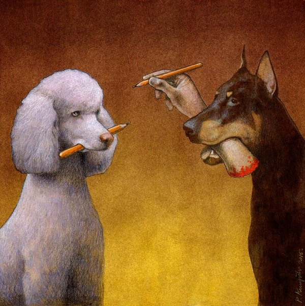 Thought provoking Illustrations By Pawel Kuczynski