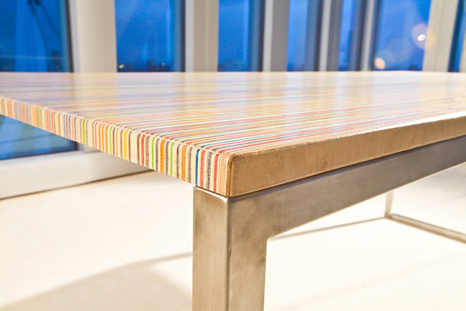 Deckstop Table Made From Old Skateboards