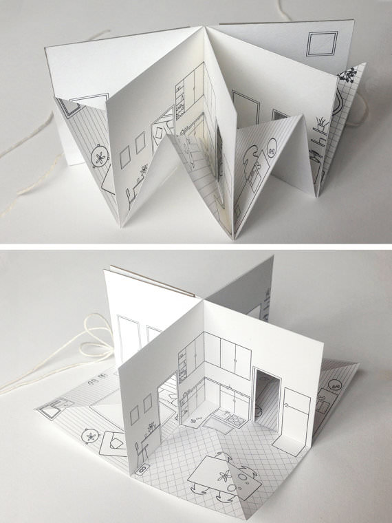 paper house small illustrated pop up book. Black Bedroom Furniture Sets. Home Design Ideas
